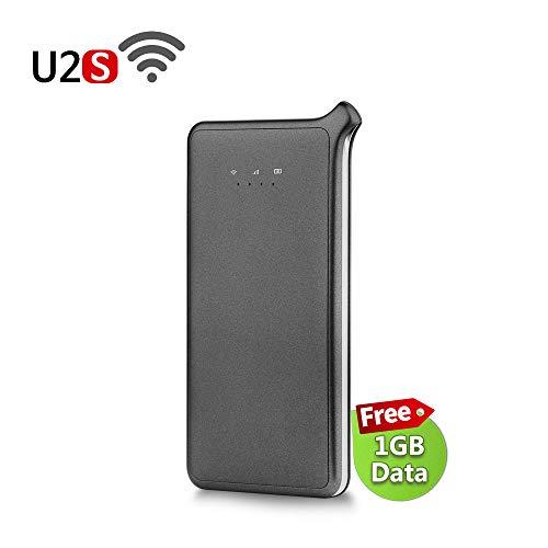 GlocalMe U2S モバイル Wi-Fi ルーター 1.1ギガ分のグローバルデータパック付け 高速4G LTE ポケットwifi s...