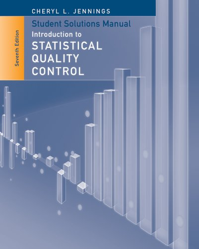 Compare Textbook Prices for Student Solutions Manual to accompany Introduction to Statistical Quality Control, 7e 7 Edition ISBN 9781118573594 by Montgomery, Douglas C.