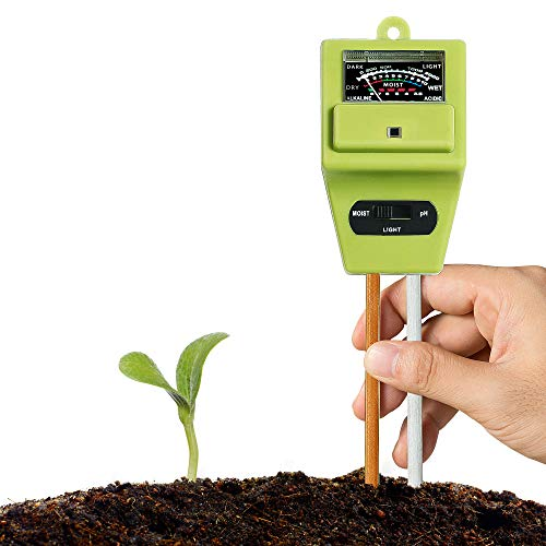 New XLUX Soil Tester Meter, 3-in-1 Test Kit for Moisture, Light & pH, for Home and Garden, Lawn, Far...