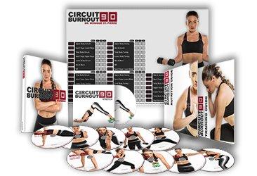 CIRCUIT BURNOUT 90 - programa de entrenamiento de 90 días, 10+1 vídeos de ejercicio en DVD + calendario de entrenamiento, monitor de fitness, guía de entrenamiento y plan de nutrición