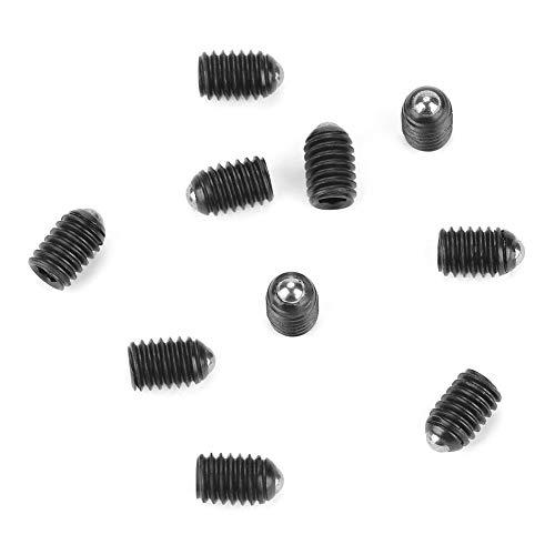 10pcs M4 Screw Thread Ball Spring Plungers Set Hex Socket Ball Plunger Carbon Steel Spring Plunger (M4x6)