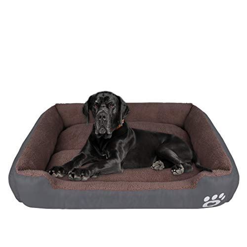 CMiles Dog Bed for Small Medium Large Dogs , Washable Pet Bed Sofa Soft Coral Fleece Dog Basket Cats Bed Thickened…