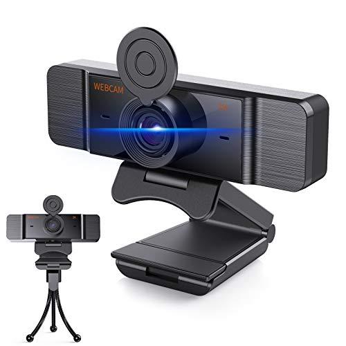 Webcam mit Mikrofon, Lefun Webcam 1440P mit Autofokus für PC, USB Kamera HD-Videostream Für Skype/Zoom Video/OBS/Twitch/YouTube, Funktioniert mit Laptop, Desktop, MacBook mit Windows/Android