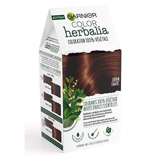 Garnier Coloration 100% végétale châtain caramel - Color Herbalia - Le kit de 80 g et 60 ml