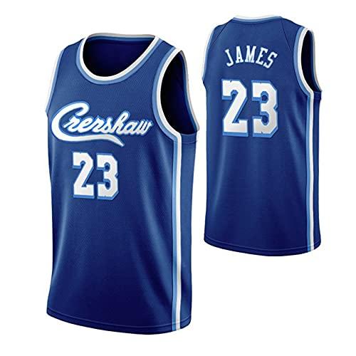 CGXYHLZ Camiseta Sin Mangas de la NBA, Camiseta de Baloncesto de Los Lakers # 23 Lebron James, Chaleco de la Colección de Fans para Hombres y Mujeres, Camiseta Transpirable y Resistente al Desgaste