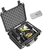 Case Club 2 Pistol & 18 Magazine Case with Accessory Pocket. Pre-Cut, Heavy Duty, Waterproof with Silica Gel for Gun Rust Prevention (Upgraded Gen-2)