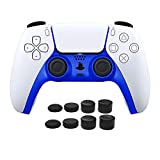 PS5 Controller Accessories, AKNES Customized Faceplates Replacement for PS5 DualSense Wireless Controller Accessories Decoration Shells Clip Cover DIY with 8PCS Thumb Stick Grips (Blue)