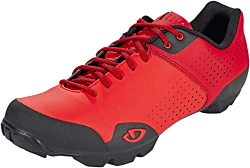 Giro Privateer Lace Mens Mountain Cycling Shoe − 44, Bright Red/Dark Red (2020)