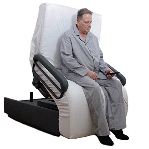 ENVYY, The Ultimate Lift Chair is Also an Adjustable Bed! Push-Button Operation for Super-Safe, Strain-Free, Pain-Free Bed Entry/EXIT. Electric tilt, Head and Foot Operation.