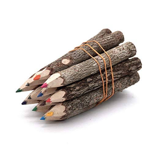 Professional Coloring Pencils Assorted-Stick Twig Outdoor Colored Wooden Pencil Tree for Child Camping Decorations Color Wood, Artist Colored Pencils, or Outdoor Wedding Decorations (3 Inch Long)