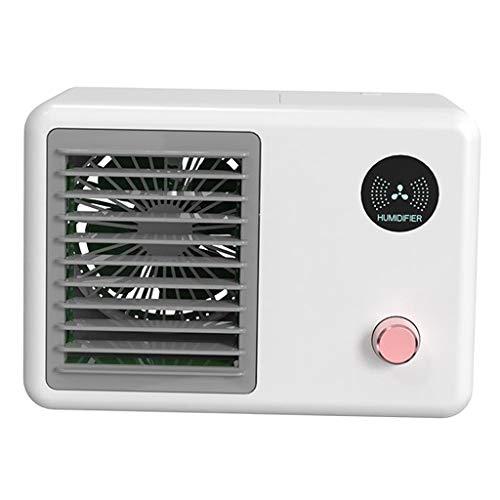 MagiDeal Enfriador de Aire Personal, Mini Aire Acondicionado portátil 3 en 1 silencioso Retro, purificador de humidificador de Aire evaporativo de 400ml con 7