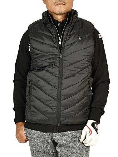 【サンタリート】 Santareet メンズ 冬ゴルフが楽しくなる 電熱 防寒 中綿 ゴルフ ヒート ベスト IF-CGBS201 L ブラック