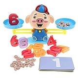 Homyl Montessori Jeux Balance en Plastique Colorés Jouet éducatifs de Maths pour Enfants - Cochon