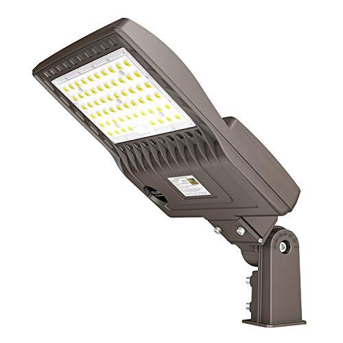 480V LED Parking Lot Lights 150W 21000LM LED Shoebox Pole Lights Fixture 400W HID/HPS Replacement 5000K IP65 AC 277-480V DLC UL Listed Outdoor Area Street Security Lighting for Stadium Roadways