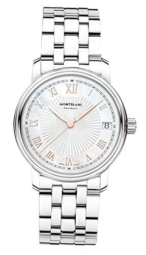 Montblanc Reloj Analógico para Hombre de Cuarzo con Correa en Acero Inoxidable 114367
