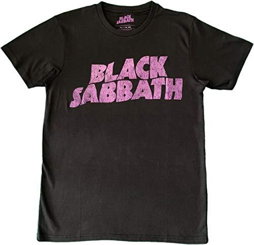 Black Sabbath Herren T-Shirt Wavy Logo Vintage, Black, L