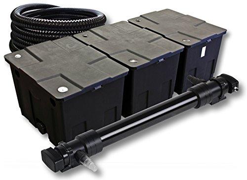 SunSun 3-Kammer Filter Set für 90000l Teich mit 72W UVC 6er Teichklärer und 5m Schlauch