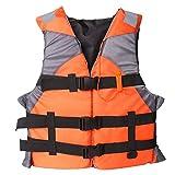 Gilet De Sauvetage pour Adultes, Gilet De Sauvetage Natation Flottabilité Aide Snorkel Sécurité Flotation Veste pour Sports Nautiques Navigation Pêche Bateau Kayak Parc Aquatique (Orange)