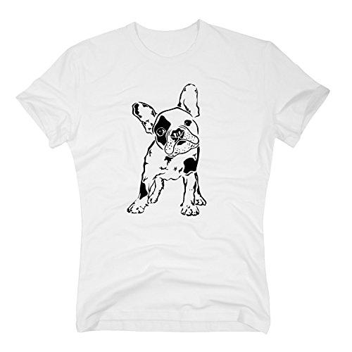 T-Shirt Baby Bulldogge Französisch French Dog Doggy Hund Hundebaby, L, Weiss