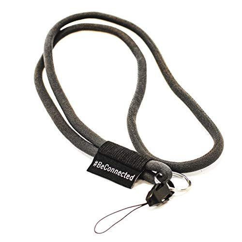 NRM-Products Schlüsselband lang als Schlüsselanhänger (anthrazit schwarz - 45cm) - Band mit Ring für Schlüssel, Ausweis, Handy, Kamera - Lanyard für Damen, Herren & Kinder (Anthrazit)