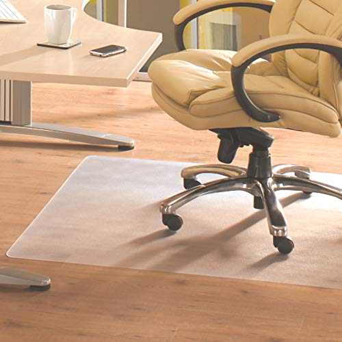 """Floortex FC12929225EV Bodenschutzmatte / Bürostuhlunterlage \""""advantagemat\"""", 92 x 92 cm, aus phtalatfreiem Vinyl, transparent, quadratisch, TÜV zertifiziert, für Hartböden"""