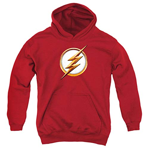 The Flash TV Series Season 4 Logo Kids Youth Pullover Hoodie & Stickers (Medium)