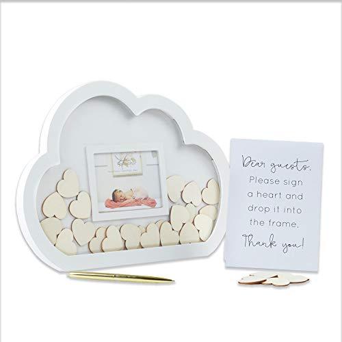 Kate Aspen Livro de visitas alternativo para chá de bebê, tamanho único, branco