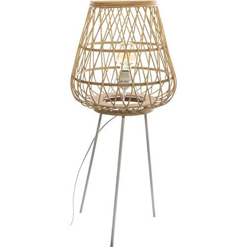 Lámpara de pie de trípode de bambú ritual