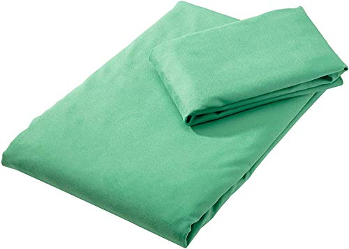 Amazon Basics - Juego de toallas de viaje y deporte (microfibra, 1 toalla de bao grande y 1 toalla de mano)