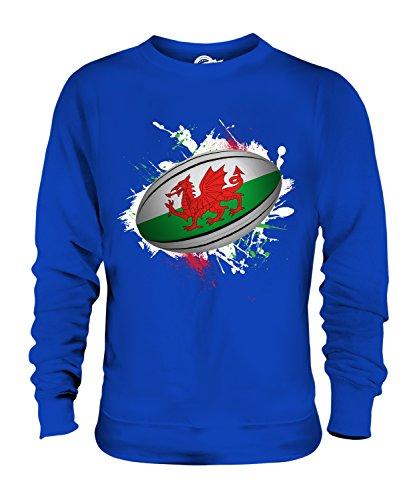 Candymix Wales Rugby Ball - Sudadera unisex para hombre y mujer azul cobalto XXXL