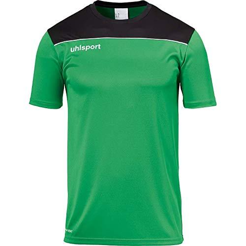 uhlsport Offense 23 Poly Shirt Camiseta De Fútbol para Hombre, Verde/Negro/Blanco, S