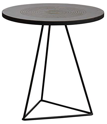 AUBRY GASPARD Table Ronde métal doré Vieilli