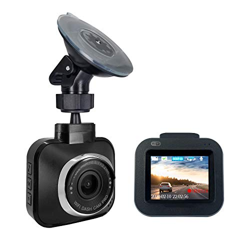 "Dash Cam Pro Wi-Fi - As Seen on TV Dash Cam 360°, Motion Detection, 2.0"" LCD, 1080p HD, Dashboard Camera Video Recorder, Loop Recording, Night-Mode"