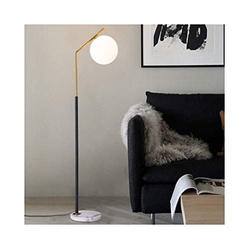 JIAWYJ DONGYANG-Lámparas- * Lámpara de pie LED de Vidrio Esmerilado - Sala de Estar - Luz de Alto Polo para Dormitorio y Oficina - con lámpara de pie de Bombilla LED (Color: a) (Color : A)
