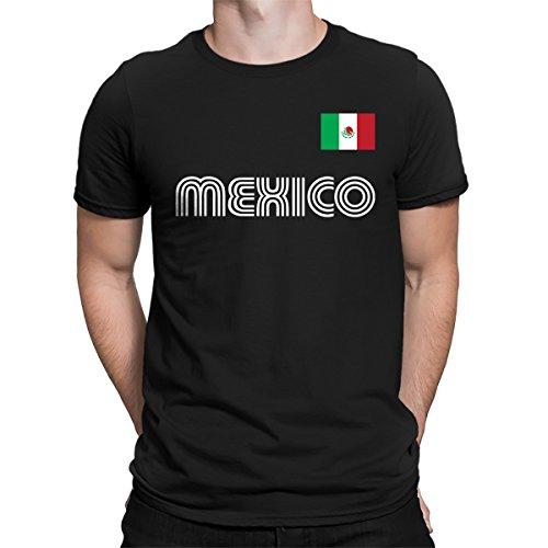 SpiritForged Apparel Mexico Soccer Jersey Men's T-Shirt, Black 3XL