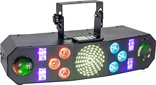 IBIZA COMBI-FX3 4in1 LED Lichteffekt Deko Bühne Party Disco Musik Club DJ Licht