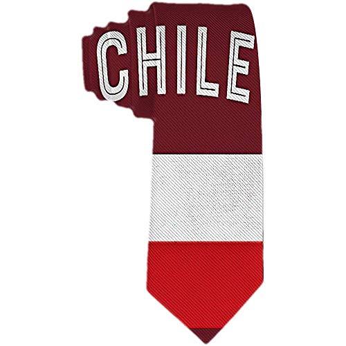 Corbata de seda de poliéster de Chile con corbata de seda para hombre