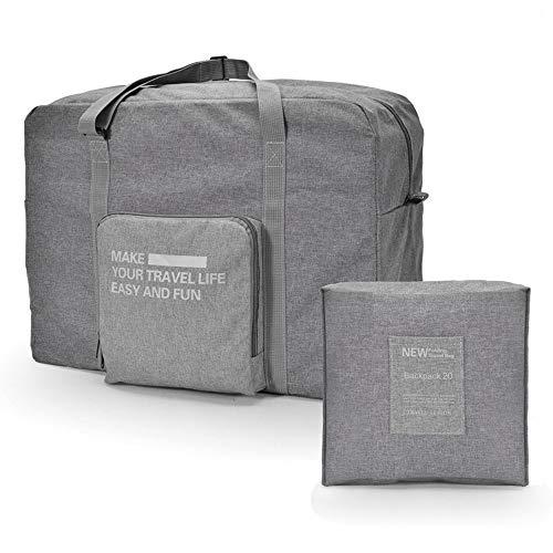 FunYoung Superleichtes Tragbares Handgepäck Faltbare Reisetasche aus Polyester , Grau