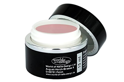 World of Nails-Design Premium LED/UV-Gel Aufbaugel rosé milchig 15ml, Babyboomer Look