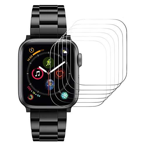 Hianjoo [6 Piezas] Protector Pantalla Compatible con Apple Watch 44mm, Premium 9H Vidrio Film Vidrio Láminas Compatible con iwatch 44mm[Resistente a Rayones] [Anti-Shatter]