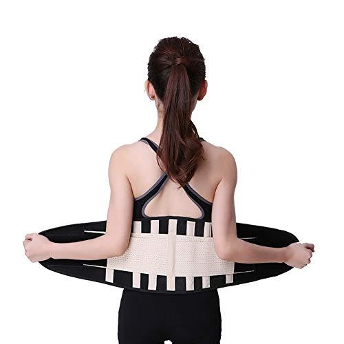 CHENXIAOJUN Rückenstabilisator Sport Korsett Neopren-Hüftgurt Rückenstütze-Gurt for Fitness Gewichtheber-Außen Posture Corrector rückenbandage (Color : Skin, Size : M)