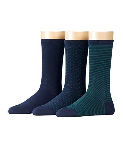ESPRIT Backstripe 3-Pack Damen Socken marine (6121) 36-41 mit verschiedenen Designs