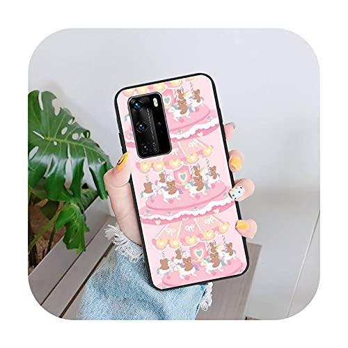 Funda linda del teléfono del oso de la historieta para Huawei Mate 9 10 20 Nova 2i 3i Y5 7 9s Silicona-a3-para nova 5 t