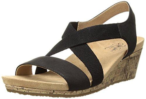 LifeStride Damen Mexico Keilabsatz-Sandale, schwarz, 40 EU