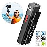 SABINETEK SmartMike+ Bluetooth ワイヤレスマイクシステム 携帯電話 ビデオカメラ 無線マイク 録音 ビデオ 生放送 充電式 高音質 衿入れ式 超小型 マイク (黒)