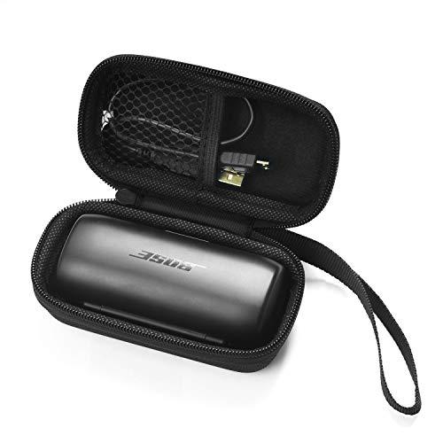CoWalkers Funda Protectora para Bose Soundsport Free para Auriculares Deportivos Truly Wireless, Bolsillo de Malla para Cables y Otros Accesorios (Negro)