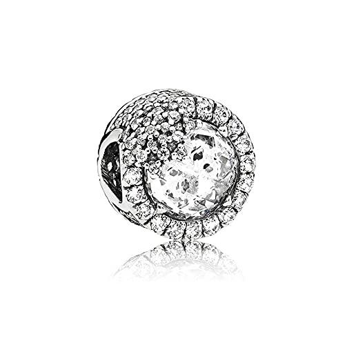 Fai Da Te S925 Sterling Silver Colorful Rainbow Cat Eye Beads Beaded Fit Originale Pandora Bracciali Collana Per Le Donne Charm Beads Creazione Di Gioielli Z10