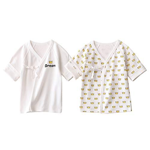 Odziezet - Camiseta de manga corta para bebé (algodón, para niños de 0 a 3 meses) HG 0-3 Meses