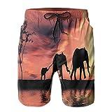 FULIYA Pantalones cortos de verano para hombre, de secado rápido, con forro de malla y bolsillos