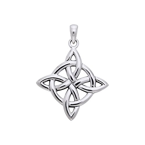 Jewelry Trends Sterling Silver Celtic Good Luck Knot Pendant